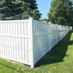 Vinyl fencing install
